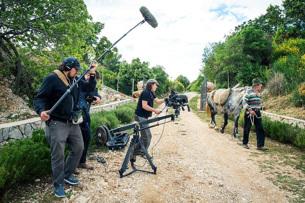 Camera Man Konrad Waldmann in action with Prosup Camera Jib Arm